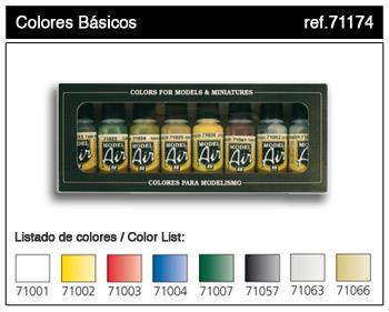 71.174 Basic colors 8x17ml