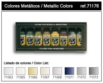 71.176 Metallic Colors 8x17ml