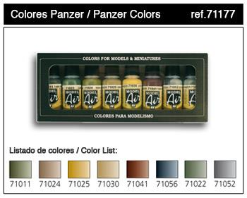 71.177 Panzer Colors 8x17ml