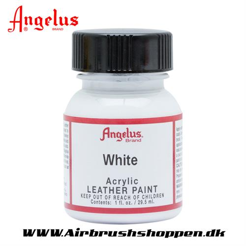 White - hvid Angelus Leather Paint 29,5 ml  005