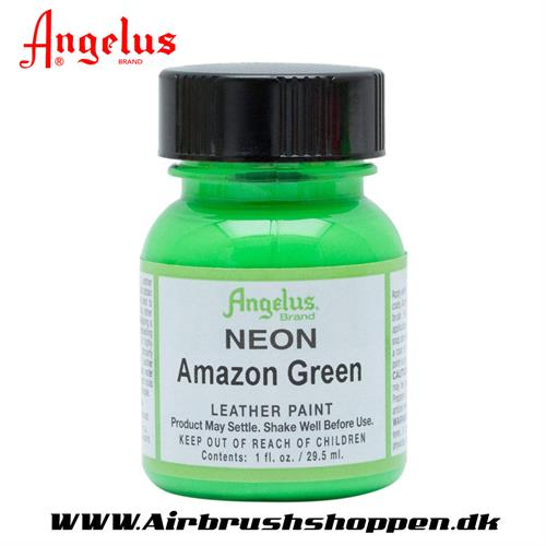 Amazon green - Neon grøn ANGELUS LEATHER PAINT 29,5 ML   125