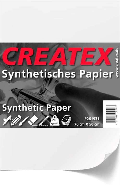 CREATEX Synthetic Paper 35 cm x 25 cm (12 sheets)